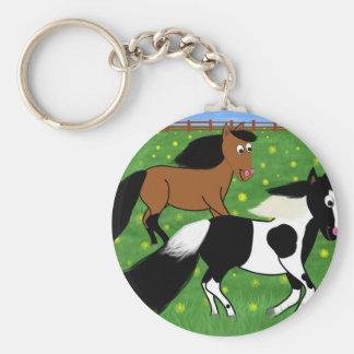Cavalos dos desenhos animados que funcionam no chaveiro