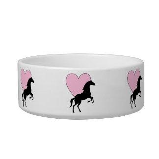 Cavalos e amor tigela
