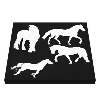 Cavalos Impressão Em Tela