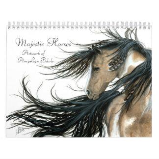 Cavalos majestosos inspirados pelo calendário de