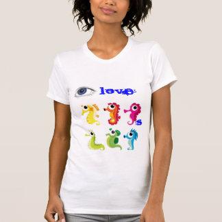 cavalos marinhos, olho, amor, s t-shirts