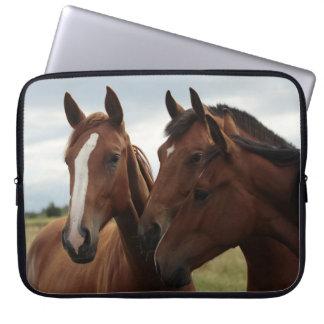 Cavalos na bolsa de laptop do neopreno 15 capa para computador