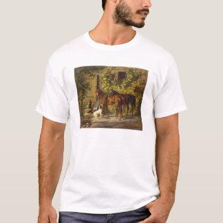Cavalos no patamar camiseta