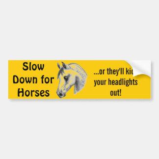 cavalos perigosos adesivo para carro