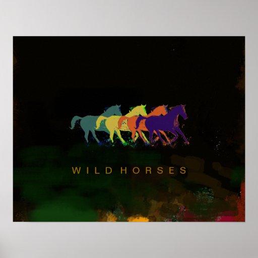 cavalos que funcionam impressões poster