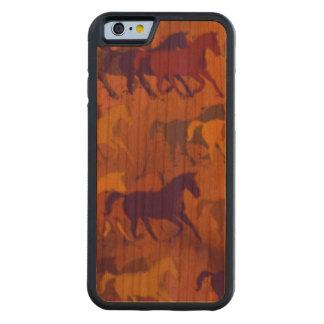 cavalos selvagens capa de cerejeira bumper para iPhone 6