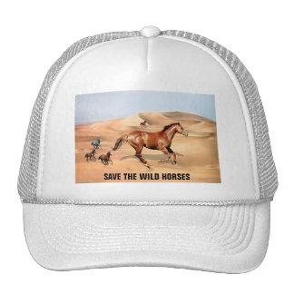 Cavalos selvagens e dunas de areia boné