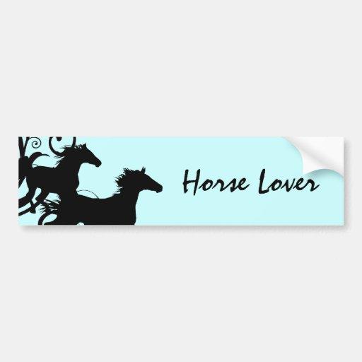 Cavalos selvagens pretos adesivo