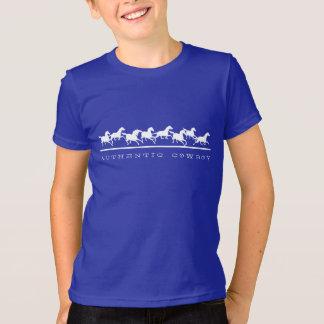 Cavalos selvagens que funcionam o vaqueiro camiseta