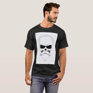 Caveira de bigode camiseta