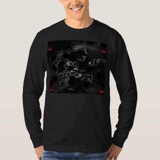 Caveiras negras camiseta