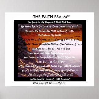 Caverna da montanha do salmo da fé de posteres
