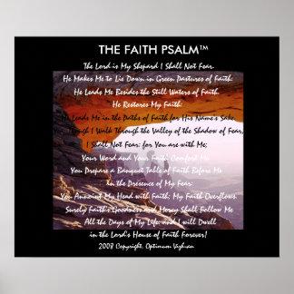 Caverna da montanha do salmo da fé de impressão