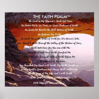Caverna da montanha do salmo da fé de poster
