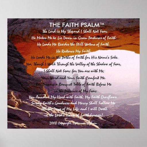 Caverna da montanha do salmo da fé de pôsteres