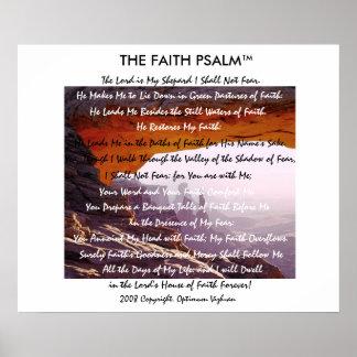 Caverna da montanha do salmo da fé de pôster