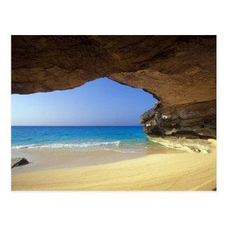 Caverna na baía francesa, ilha de San Salvador, Cartão Postal