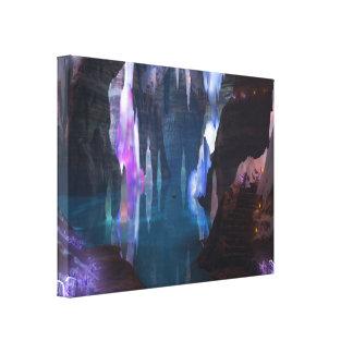 Cavernas de brilho pelo impressão das canvas da