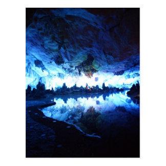 Cavernas de lingüeta da flauta, China, cartão