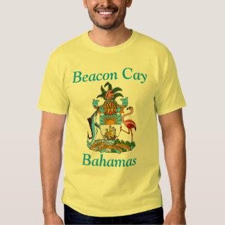 Cay da baliza, Bahamas com brasão Camiseta