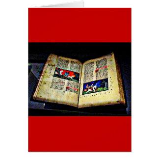 CB medievais do livro Cartão Comemorativo