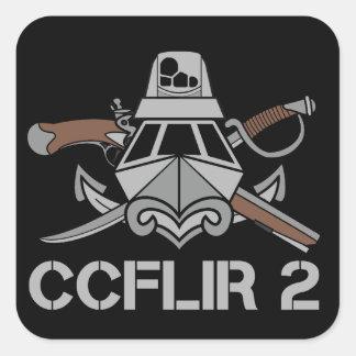 """CCFLIR 2 Zap (etiqueta), 3"""" X 3"""", uma folha de 6 Adesivo Quadrado"""