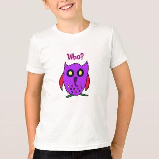 CD quem? Camisa de Crtoon da coruja