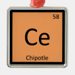 Ce - mesa periódica da química da pimenta de Chipo Ornamentos