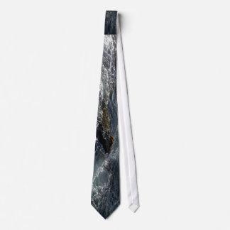 Cegonha temático, cegonhas que olham os maremotos gravata
