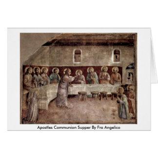 Ceia do comunhão dos apóstolos por Fra Angelico Cartão