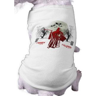 Ceifador do Dia das Bruxas Camisa Sem Mangas Para Cachorro