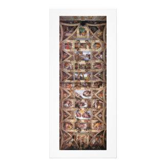 CeilingofSistineChapel 10.16 X 22.86cm Panfleto