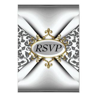 Celebração branca RSVP da festa de aniversário do Convite 8.89 X 12.7cm