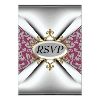 Celebração branca vermelha RSVP da festa de Convite 8.89 X 12.7cm