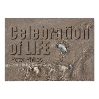 Celebração da areia #1 da cerimonia comemorativa convite 8.89 x 12.7cm