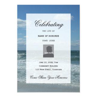 Celebração da foto das ondas de oceano do convite