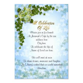 Celebração da hera e das flores do convite da vida
