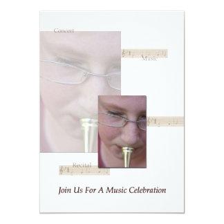 Celebração da música convite 12.7 x 17.78cm