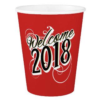 Celebração da véspera de ano novo 2018 copos