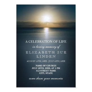 Celebração da vida | Sun sobre o oceano Convite 12.7 X 17.78cm