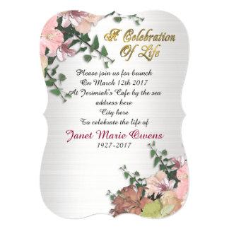 Celebração de flores e de hera do convite da vida