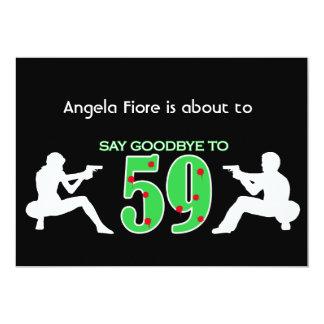 Celebração do aniversário do estilo da máfia 60th convite 12.7 x 17.78cm