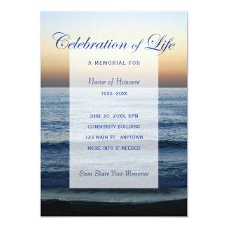 Celebração do azul de oceano do convite do