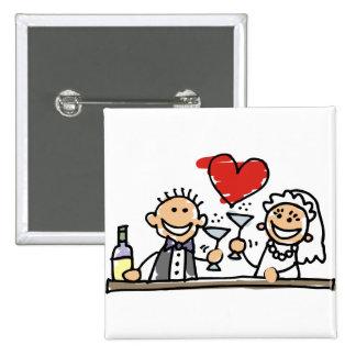 Celebração do casamento bóton quadrado 5.08cm