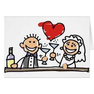 Celebração do casamento cartão comemorativo
