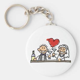 Celebração do casamento chaveiro