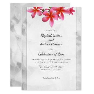 Celebração do casamento do Plumeria do convite do
