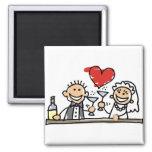 Celebração do casamento ímã quadrado