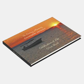 Celebração do livro de hóspedes da vida, barco de