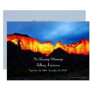 Celebração do nascer do sol de incandescência do convite 12.7 x 17.78cm